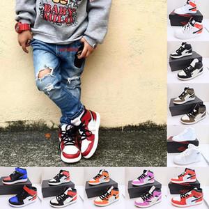 2021 New 1 1s Basketball Shoes Kids Girls Satin Snake Tie Dye OG Bio Hack Chicago Blue UNC Patent White Ow TWIST Green Toe MOCHA Designer