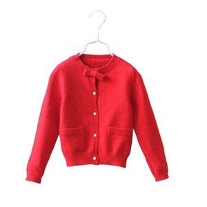 4-12 Years Girls Sweaters Spring Autumn Baby Girl Toddler Colored Knitted Cardigan Kids Children Outwear For Girls TS48 201201