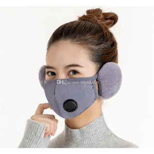 Winter Keep Warm With Ear Muffs Face Masks Fashion Breathing Valve Design Cold Breathable Thicken Outdoor Cycling jllMnm yummy_shop