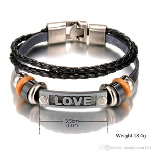 New Arrival Cross Charm Braided Men women Bracelet Jewelry Hand Woven PU Leather Bracelets Bangles Black Wristband