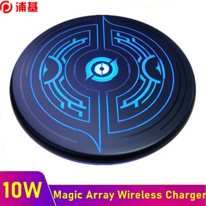 10W Qi Wireless Charger for iPhone XS XR 11 Pro Max Fast Wireless Charging Pad for Samsung S20 S10 S9 S8 Carregador