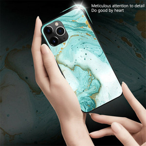Full Protective fashion coque iphone 12 pro max phone cases Cover iphone 11 pro max X XR XS Max Tempered Glass TPU Hard Marble phone