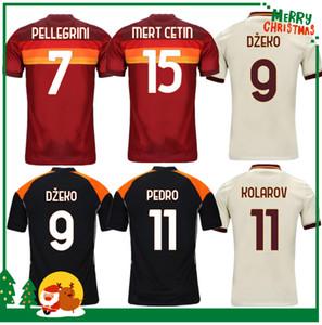 20 21 Roma Dzeko Perotti Pastori Zaniolo De Rossi Futbol Forması Totti Jersey 2020 2021 Yetişkin Erkekler + Çocuk Kiti Futbol Gömlek