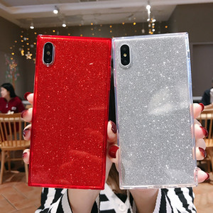 Bling Bling Glitter Чехол для телефона для iPhone 12 Pro Max Квадратный чехол для телефона для iPhone 11 Pro XS MAX XR 8PLUS Anti-Drop
