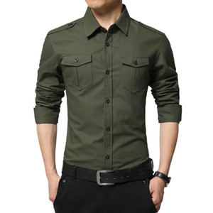 MRMT 2020 Brand New Autumn New Men's Shirt Cotton Long-sleeved T-shirt for Male Slim Youth Tops Shirt