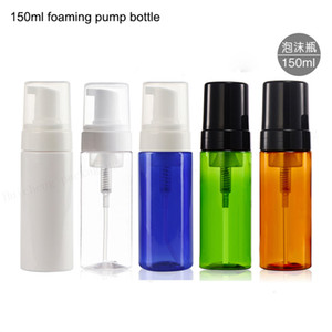 24 x 150ml cosmetic facial Cleanser wash cream Plastic pet white liquid soap Foam bottle with White Black foamer pump