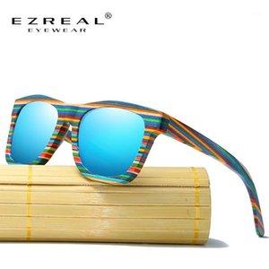 Sunglasses en bois polarisé Ezreal Hommes Bamboo Sun Lunettes Femmes Marque Designer Original Bois Lunettes Masculino1