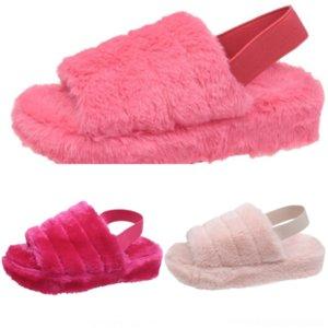 gcu aoxunlong mulheres inverno peludo pele moda strass flops desliza minion pelúcia novo aberto chinelos senhoras pelúcia sapatos senhora