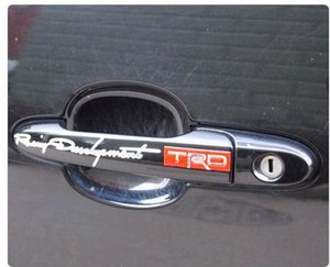 50PR / Lot Weich-PVC Griff kühles Auto-Aufkleber-Abziehbild Trc-Auto-Emblem Eadge Günstige lustige Aufkleber auf Auto