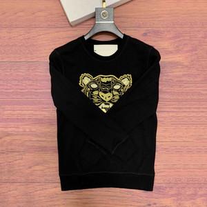 19FW Tiger Broderie Sweat-shirt à capuche Homme Femme Couple d'hiver Pull à manches longues yeux Joggers Steetwear S-2XL