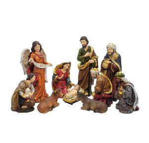 Miniatures Set Ornament Xmas Home Church Baby Christmas Crib Figurines Nativity Zayton Jesus Gift Scene Manger Statue Decoration jllfO