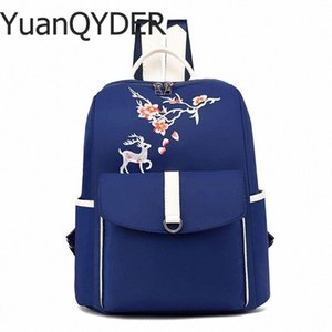 New Fashion Classic School Backpack Design Fawn Print Oxford Cloth Soft Women Backpack Waterproof Light Weight Casual Travel Bag mBWq#