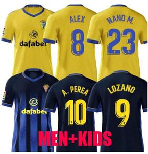 كيت الاطفال الكبار 2020 2021 كاديز كرة القدم بالقميص مان مجموعات 20 21 ALEX LOZANO NANO أليخو MARI PEREA SALVI الرجال تناسب قمصان كرة القدم