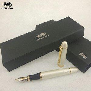 1 шт / много Jinhao X450 авторучка 12 цветов Золото / SilverBlack / красный / зеленый Ручки Jinhao Школьные принадлежности Papelaria 14,3 * 1.3cm QM0K #