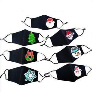 Блестки Маски Рождественский снеговик Санта-Клаус Маски Маски РМ2,5 черное лицо с Fiter моющийся многоразовый XAMS Прин Sequin Рот Обложка LSK1790