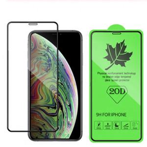 Pantalla 20D protector completo para el vidrio templado Iphone 12 Mini 11 Pro X Max Samsung Galaxy M10S M30S A70s A30S película de la pantalla