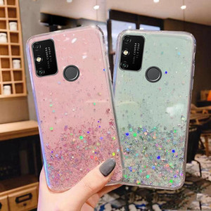 Glitter Phone Case for Huawei mate honor 9A 9X X10 20S 7A 7S 7C 7X 10 20 20X 30 8A 8S 8X 8 9 nova 7 7SE Pro Lite Back cover