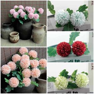 2021 Decoração Home 2 Cabeça Flores Artificial Simulação Hydrangea DIY Bouquet Partido Decoração Decoração Casamento Flor Falsa T9i001113