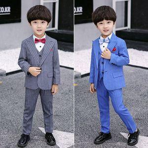Formal Flowers wedding Boys Suit Kids Wedding Party children Blazer jacket Vest Pant Tuxedo Children Prom Ceremony Costum 49K2#