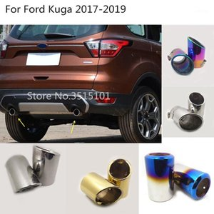 Car Rear Back Stainless Steel Cover Muffler Pipe Outlet Dedicate Exhaust Tip Tail 2pcs For Kuga Escape 2020 20201