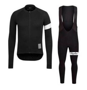 equipe Rapha ciclismo mangas compridas Camisa (bib) calças conjuntos Primavera eo Outono respirável Ciclismo Mens Ciclismo Roupa uumall
