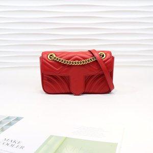 Designers Hot Chain Ship New 22cm Fashion Leather Bag 2020 Luxurys Free Bag Shoulder Marmont Classic Top Sold Quality Key Women Genuine Npfb