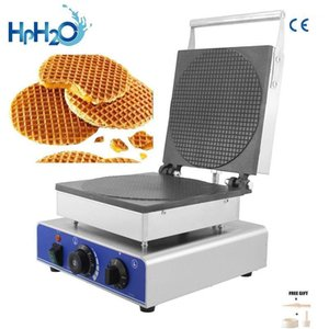 Commercial Hollande électrique rond Stroopwafel Maker Machine Gaufille Machine de gaufres Gaufre Maker Bubble Iron Gâteau Four1