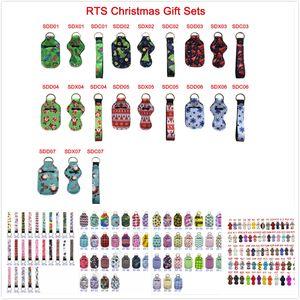 190 Colores de neopreno desinfectante de manos soporte de Navidad Chapstick Titular de colores del lápiz labial Chapstick Llavero de neopreno cubierta de la mini botella