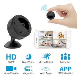 W10 mini WiFi videocámara de la cámara IP nocturna de la cámara del sensor 1080P leva de la visión del monitor inalámbrico de vigilancia a distancia Pequeño