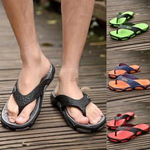 Men Slippers Summer Breathable Non-Slip Beach Shoes Fashion Flat Wear-Resistant Sandals Mens Massage Flip Flops #G54r