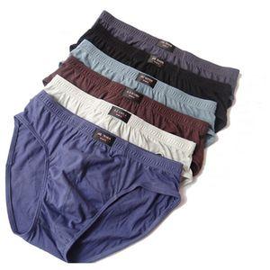 New Brief mens brandSolid Briefs 4pcs   Lot Mens Brief Cotton Mens Bikini Underwear Pant For Men Sexy Underwear men lot 201014