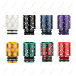 Snake Skin Shape Epoxy Resin Drip Tip 510 Drip Tips fit Big Baby TFV12 Atomizers Ecig DHL Free