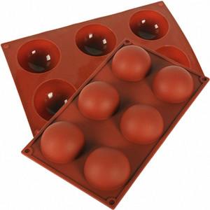 Torta del molde de silicona media esfera de la bola del mollete de la galleta de la hornada del molde de la cacerola herramientas de cocina Hornear raspador 1pc VVj9 #