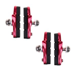 2 Pairs (4 Pieces) MTB Bike Cycle Bicycle Rubber V-Brake Pads No-Noise No-Skid, 55mm