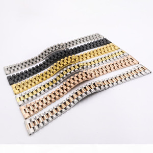 22mm Gold 316L Steel Solid Straight End Screw Links Replacement Wrist Watch Band Bracelet For GMT SUB Datejust