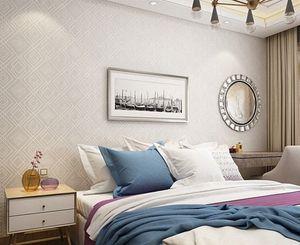 PAYSOTA moderna tela escocesa de la textura 3D en relieve del papel pintado del fondo Dormitorio Sala de estar Sofá TV pintado decorativo rollo iu7p #