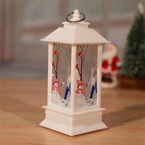 8 stili Lanterna Fiamma Natale Babbo Natale piccola decorazione luminosa della lampada Candeliere pupazzo di neve Elk Squisito creativo decorazione OOE2723