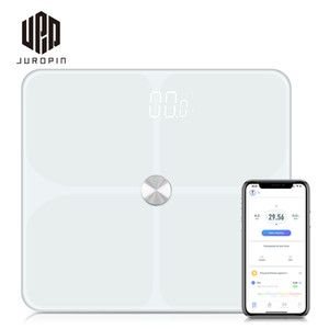 Guangzhou Juropin Bluetooth Body Fat Hot Sale Electronic Digital BMI APP Weighing Smart Body Fat Bathroom Scale,396lbs