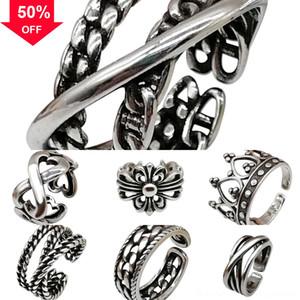 2F543 Christian Zircon-inlaid Prayer Pendant ring Retro Necklace Cross Hip-hop Gesture Jewelry Hot murano glass Cross cross pendant Selling