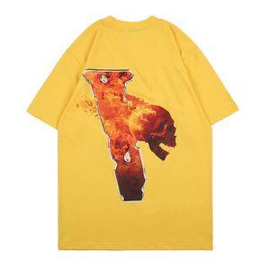 Camisetas de moda para hombre estilista t shirt para hombre camiseta de las mujeres de la mejor calidad camiseta amarilla camisetas Tamaño S-XL