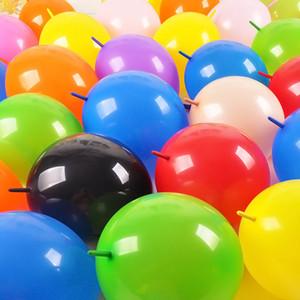 50 100pcs 10inch thi Schwanz Ballons Aufblasbare Latexballons Spielzeug für Hochzeit-Geburtstags-Party Weihnachtsdekoration Link-Ballon