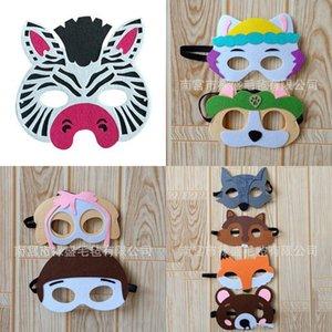 Maske Çok Renkli Karikatür Modelleme Keçe Maskeleri Kedi Ayı Güzel Fox Mouse Yama Yüksek Kalite ile Çeşitli Stil 1LS J1