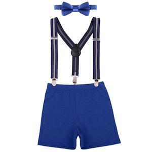 3pcs Set Baby Boy Girl Cake Smash Outfit Diaper Cover Shorts Pants Suspenders Bow Tie 1st Birthday Party Photo Props Baby Outfit Y1113