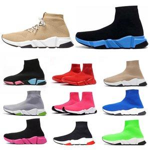 Balenciaga Luxury Designer 2020 Moda Tasarımcısı Çorap Ayakkabı Hız Eğitmen Bayan Erkek Günlük Ayakkabılar Üçlü Platformu Çorap Vintage Sneakers Tripler Düz Çizme