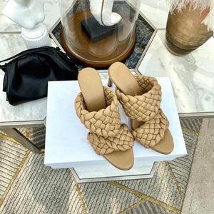 Bottega Veneta shoes Vendita calda Donne Design Sandali Tessuti Tacchi alti Curve Sandali Altanto Almondo Alta Muli Moda Design Donne Scarpe da donna Tacchi alti