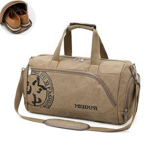 Sport Gym Bag Training Men's Fitness Bags Canvas Handbag Luggage Outdoor Sports Shoulder Bags Shoes Storage Gym Bag Tas XA353WA 51