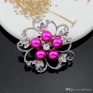 Broş Moda Takı Kanal Gümüş Kaplama Yaka Çiçek Eşarp Toka Klipler Kristal Güzel Rhineston Broş