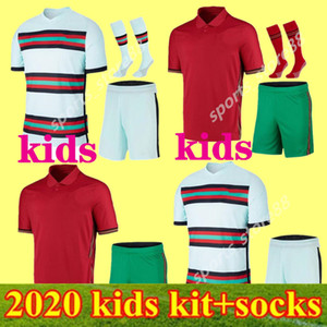 2020 Kids Kit Soccer Jerseys Jerseys Joao Felix Home Oled Boys Coke Футбольная рубашка 20 21 Португалия Гудс Дочерние Наборы Camisa de Futebol
