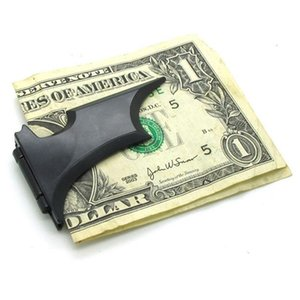 3 ألوان 121x36mm باتمان مقاطع من المال على شكل لرجل المغناطيسي للطي بطاقة معدنية المحفظة حامل لالعد النقدي كليب النقدية