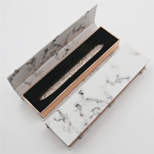Marble Pattern Adhesive Eyeliner Box Diamond Magic Self Adhesive Liquid Lash Gule Pen Package Case 10Color DDA3439